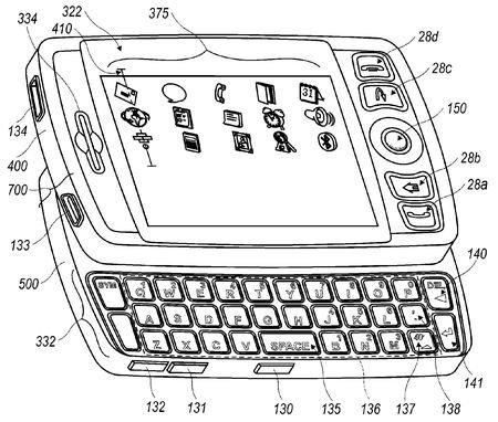 RIM Blackberry slider patent