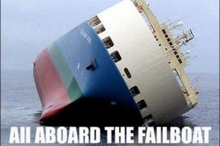 A boat full of Fail