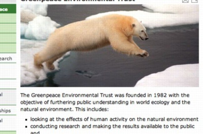 Greenpeace: your taxes at work