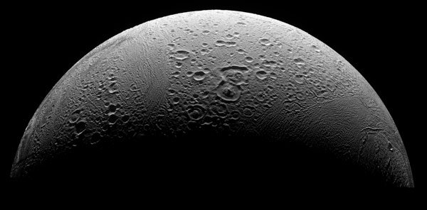 Cassini's view of Enceladus's northern polar region. Pic: NASA