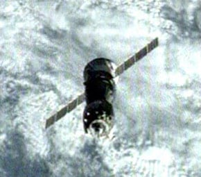 The Soyuz TMA-12 approaches the ISS. Pic: NASA TV