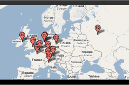 Pingdom Europe Google Data Center Map