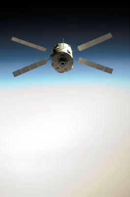 The 'Jules Verne' ATV seen from the Space Station