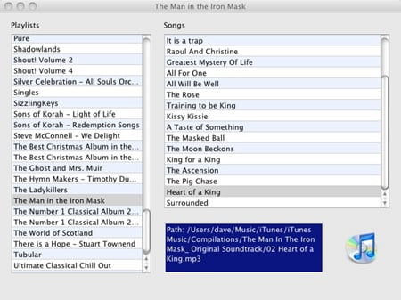 iTunes library through the Mac browser