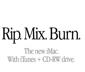 Apple's Rip, Mix & Burn campaign