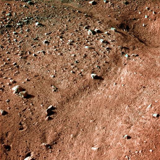 Phoenix snap of the Martian surface. Pic: NASA/JPL-Caltech/University of Arizona