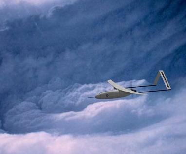 Aerosonde heads into the hurricane