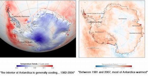 NASA's colourful Antarctic makeover