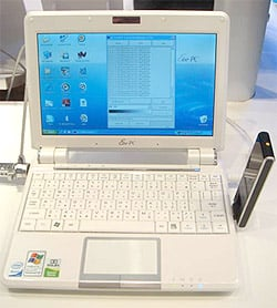 Eee PC 901 with WiMax dongle