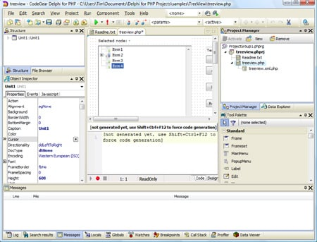Delphi for PHP 2.0 IDE