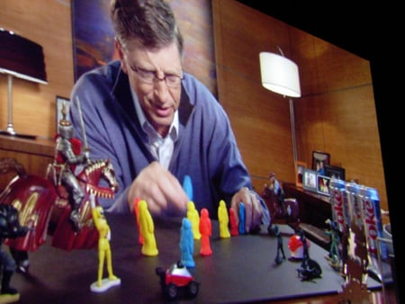 Bill Gates in Microsoft last day video