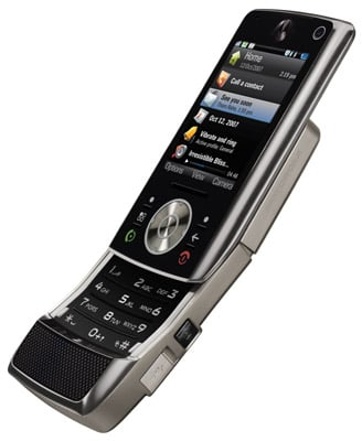 Motorola Z10 'kick slider' media phone