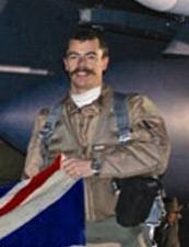 Chris Ball and his handlebar moustache. Pic: MOD