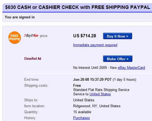 eBay Live Search game