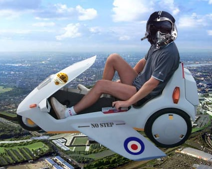 Our artist's impression of how a flying C5 might look