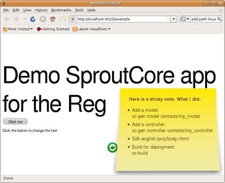 Demo of SproutCore