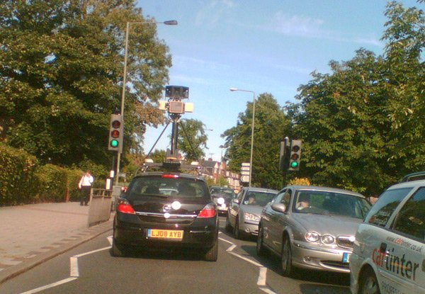 Google's Street View spycar spotted in London
