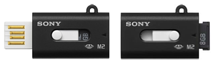 Sony 8GB Memory Stick Micro adaptor