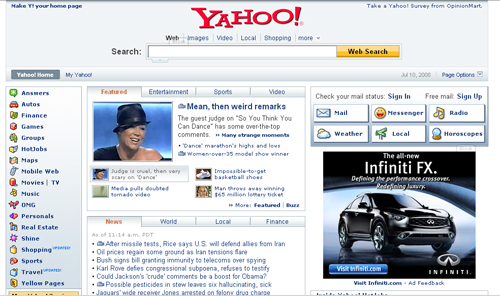 Yahoo! Front Page