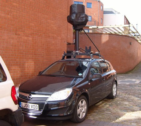 Another Street View spycar in Birmingham