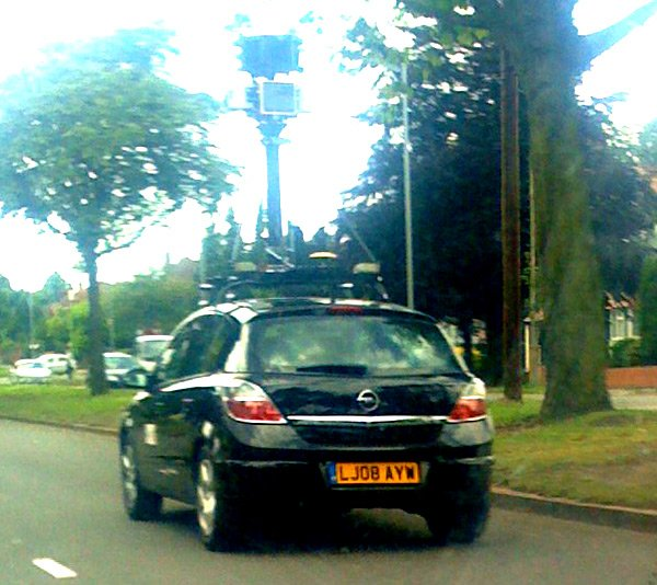 Another Street View spycar spotted in Birmingham