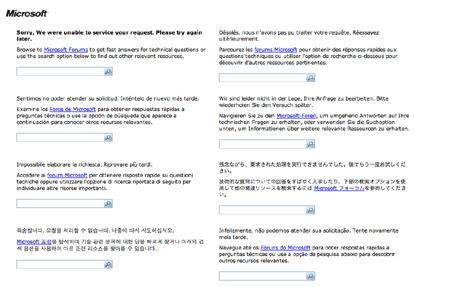 Live Mesh forums unavailable