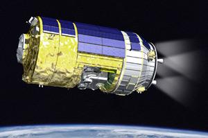 Artist's impression of JAXA's HTV in orbit. Pic: JAXA