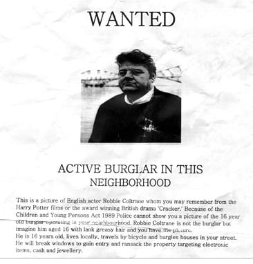 Robbie Coltrane Wanted Poster