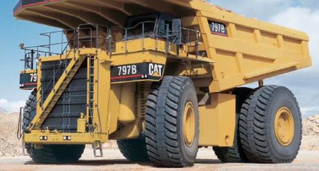 The existing, human crewed Caterpillar 797B