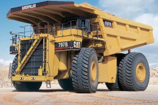 The existing, human crewed Caterpillar 797B