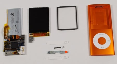 Apple iPod Nano in pieces