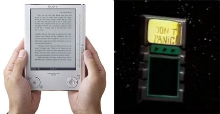 The Sony PRS-505 Reader and the Hitchhikers Guide to the Galaxy