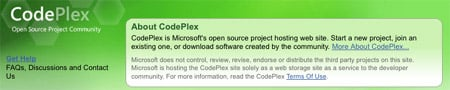 CodePlex homepage