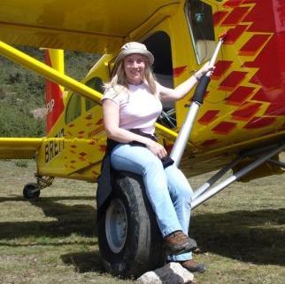 Kate Craig-Wood at the Himalayan drop zone