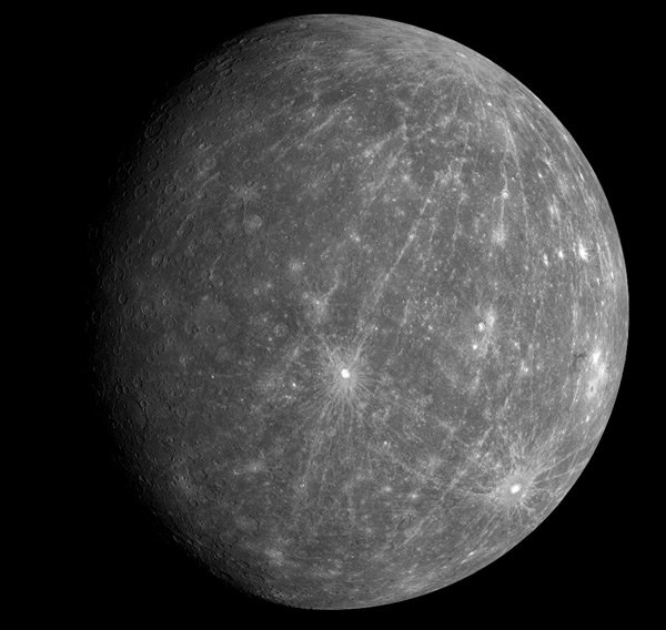 Messenger view of Mercury. Pic: NASA