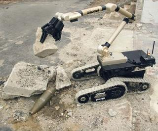 The iRobot Warrior in explosive-ordnance disposal configuration