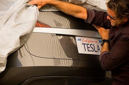 Tesla S rear end