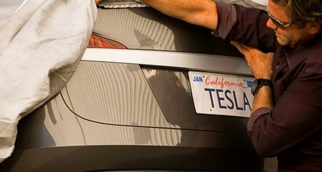 Tesla S rear end