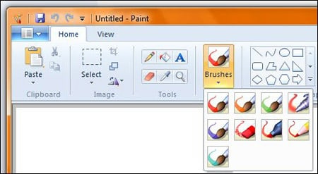 Windows 7 Paint Ribbon