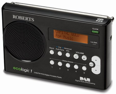 roberts ecologic 1 portable dab radio the register. Black Bedroom Furniture Sets. Home Design Ideas
