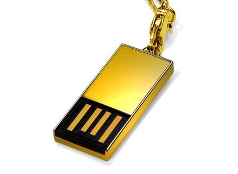 Super Talent's solid gold Pico-C 8GB USB thumb drive