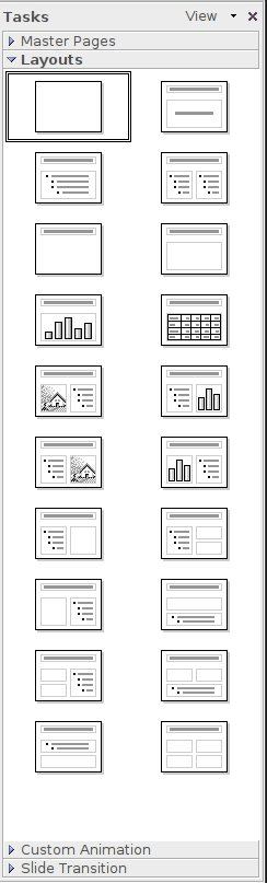 OpenOffice Impress Icons (version 2.4)