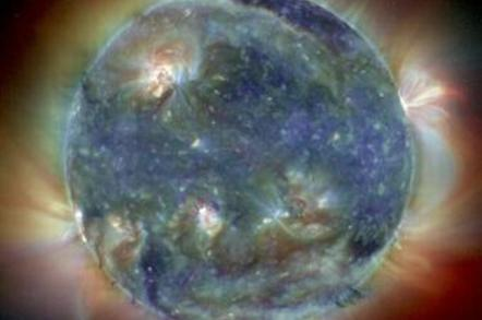 An image of the storm-wracked solar atmosphere