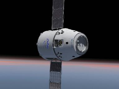 SpaceX concept of DragonLab - a Dragon re-entry capsule with unpressurised trunk attached