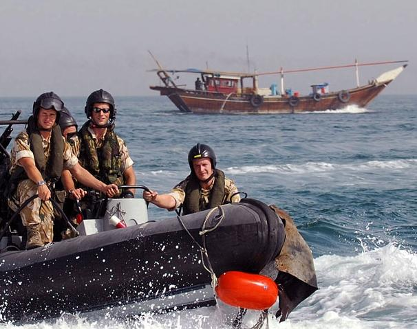 Royal Marines on boarding ops in the Gulf of Aden