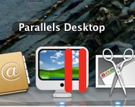Parallels icon on Mac OS X screen