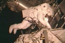 Steve Bowen outside the ISS on the STS-126 fourth and final spacewalk. Pic: NASA