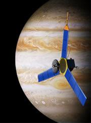Artist's impression of Juno at Jupiter. Graphic: NASA