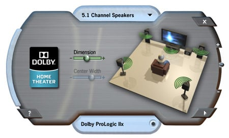 Dolby Home Theater interface