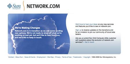 Sun's Network.com page